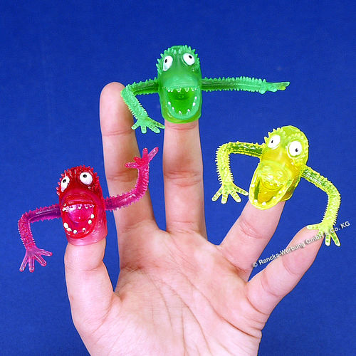 Bunte Finger-Monster